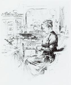 Portret van Adriana Jacoba Paulus (1873-1945)