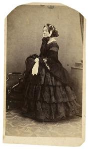 Portret van Catharine Frederica Augustina Alexandra gravin van Hogendorp van Hofwegen (1811-1887)