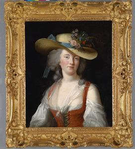Pastoraal portret van Gravin Anne Catherine Le Preudhomme de Chatenoy de Verdun