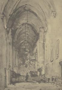 Interieur van de St. Nicolaïkerk te Utrecht
