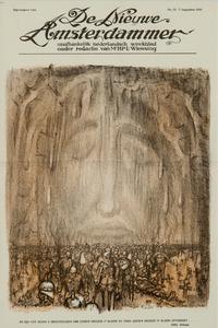 Christus met gesloten ogen temidden van doden en verminkten