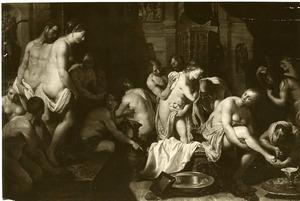 Ester in het vrouwenhuis van Ahasveros (Ester 2:3)