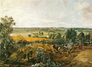 De vallei van de Stour met de kerk van Dedham