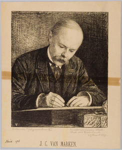 Portret van J.C. van Marken