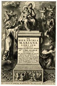 Titelpagina voor B. de los Rios, De Hierarchia Mariana Libri Sex, Antwerpen 1641