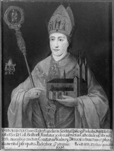 De H. Meinwerk, bisschop  van Paderborn (....-1036)