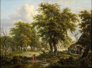 Boomrijk landschap met boerderijen