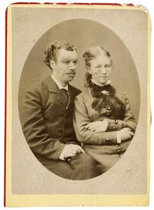 Portret van Willem Hendrik de Bruyn van Melis- en Mariekerke (1853-1936) en Jkvr. Suzanna Maria Cornelia Six (1856-1938)