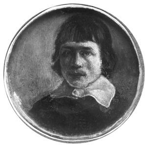 Portretminiatuurt van een man, mogelijk de schilder Albert Cuyp (1620-1691)