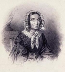 Portret van Christina Maria Alberda van Menkema ( -1856)