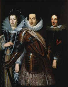 Cosimo II met Maria Maddalena van Oostenrijk en Ferdinando II