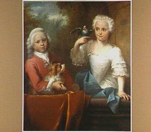 Portret van Hendrik de Roo (1743-?) en Johanna de Roo