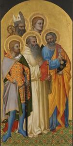 Heiligen Petrus, Benedictus, Julian, Laurentius en Zenobius (?)