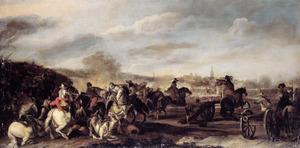 Ruitergevecht voor een belegerde stad