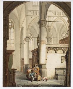 Een vader en dochter in een kerk
