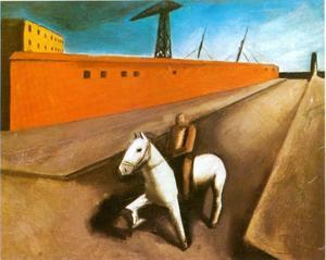 Wit paard en pier