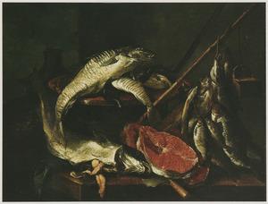Stlleven van zee- en zoetwatervissen