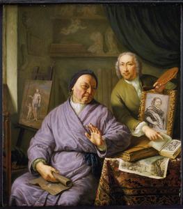 Dubbelportrert van Willem van Mieris (1662-1747) en Frans van Mieris II (1689-1763)