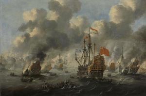 Het verbranden van de Engelse Vloot voor Chatham, 20 juni 1667