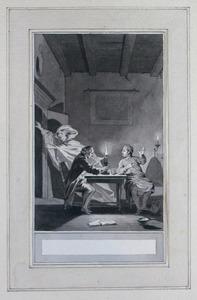 Illustratie bij 'Het spook' uit de Fabelen en vertelsels van F.C. Gellert