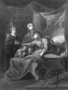 Jacob zegent Ephraïm en Manasse (Genesis 48: 14-20)