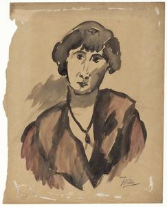 Portret van Mlle.Berch