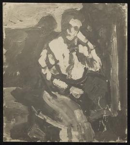 Zittende vrouw in interieur (Lena Milius?)