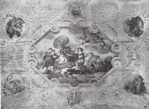 Allegorical ceiling painting
