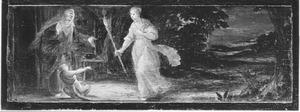De bespotting door Stellio van Demeter / Ceres, zoekend naar Proserpina
