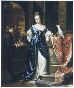 Portret van Lodewina Schey (....  -1747)