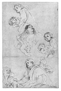 Maria met kind, en H. Familie met H. Elizabeth