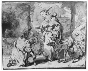 Daiphilo biedt Granida water aan in een schelp (P.C. Hooft, Granida I, 3)