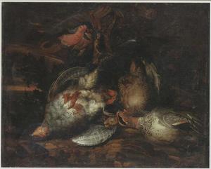 Jachtstilleven van gevogelte