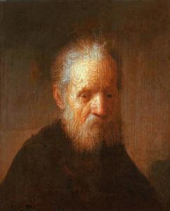 Borststuk van een oude man met baard