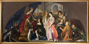 Keizer Lodewijk de Vrome ontvangt Harold Klak in 826
