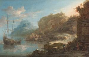 Schepen voor anker in een exotische baai