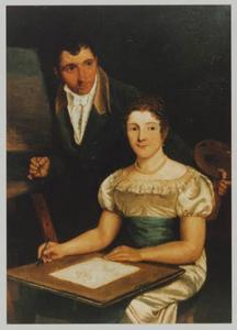 Dubbelportret van Coenraad Alexander Weerts (1782-1868) en Anna Maria de Jongh (1782-1830)