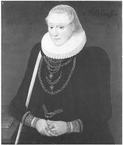 Portret van Margaretha Völker, née Von Holzhausen