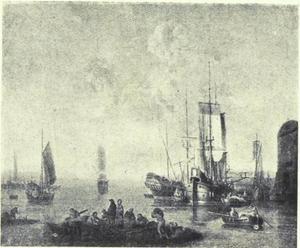 Havengezicht met zeilschepen