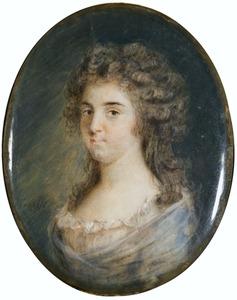 Portret van mogelijk Maria Petronella Schlosser Beeldsnijder (1755-1793)