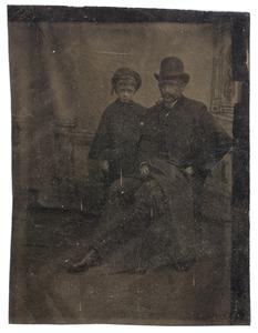 Portret van een man en een jongen