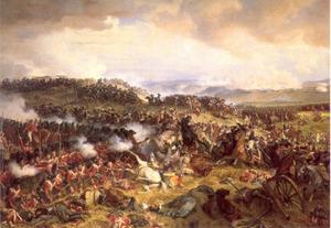 De slag bij Waterloo: charge van de Kurassiers tegen de Highlanders: een historische reconstructie