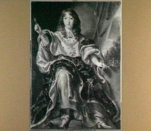 Portret van Lodewijk XIV de Bourbon, koning van Frankrijk (1638-1715)