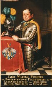 Portret van Carl Wilhelm Georg Johann Theodor Freiherr von Bodelschwingh-Plettenberg