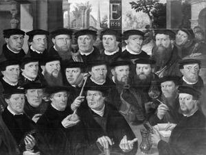 Eenentwintig schutters behorende tot Rot E van de Voetboog (St. Jorisdoelen), Amsterdam