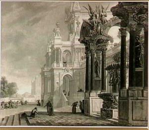 Paleisarchitectuur met de terugkeer van de Verloren Zoon (Lucas 15:18-20)