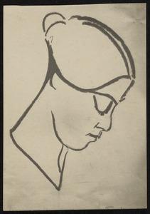 Vrouwenportret (vermoedelijk Lena Milius)