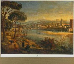 Landschap met gezicht op Florence