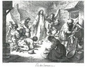 De genezing van de tien melaatsen door Christus (Lucas 17:11-19)