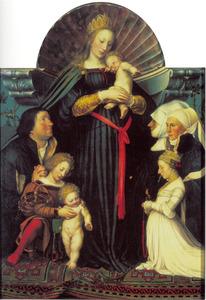 De Madonna met de familie van burgemeester Jakob Meyer zum Hausen